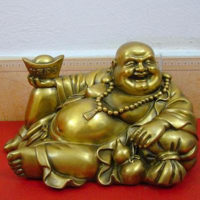 Tượng Di lạc, tượng ngồi bao tiền, ôm thỏi vàng