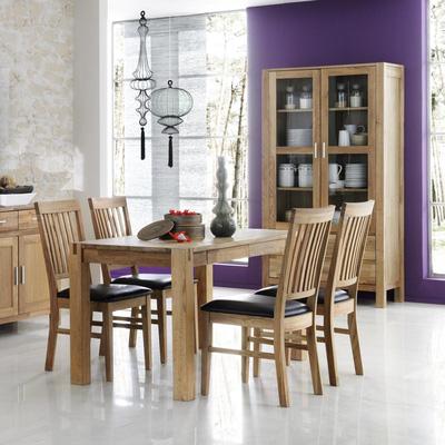 Bộ bàn ăn 4 ghế bọc đệm gỗ sồi GBA07