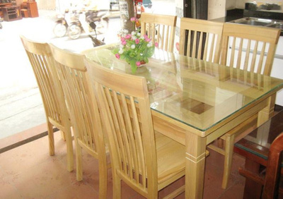 Bộ bàn ăn gỗ sồi nga GBA053