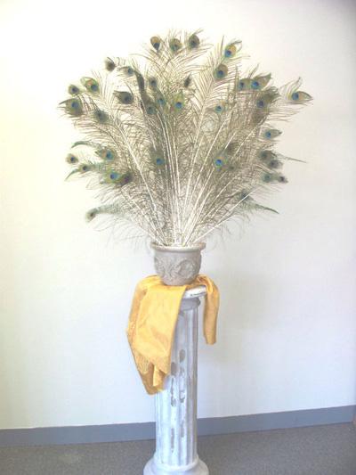Mẫu  lông công cắm bình trang trí phòng khách .MS01