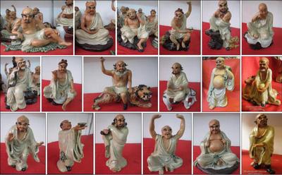 Bộ tượng 18 vị La Hán gốm sứ Bát Tràng