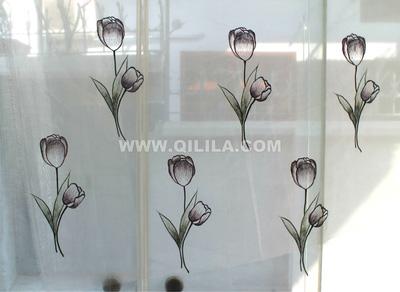 Rèm thêu cao cấp Qilila   Hoa tulip