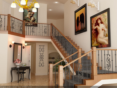 Cầu thang sắt nghệ thuật PT23