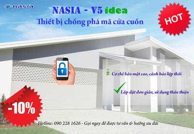 Thiết bị chống phá mã cửa cuốn Nasia   V5.i