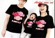 Gia đình hạnh phúc với đồng phục áo gia đình, áo đôi yêu thương thật độc đáo,thiết kế theo yêu cầu.