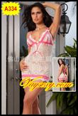 Đầm ngủ voan lưới hồng ,dạng yếm dây, kiểu HOTGIRL