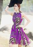 Độc và đẹp với Váy liền thân Hàn Quốc hiệu Dint model 2014
