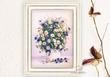 Tranh Thêu Ruy Băng Bình hoa Cúc / 01-232