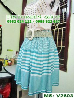 Ảnh số 25: Váy cotton dáng xòe - Giá: 80.000