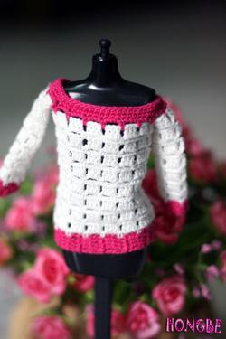 Ảnh số 12: M07 - Bộ quần áo dài trắng pha hồng - Giá: 50.000