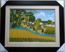 Ảnh số 31: Gánh lúa cổng làng - Giá: 750.000