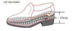 Ảnh số 1: cấu tạo giày nâng chiều cao - Giá: 2.000