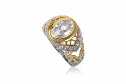 Ảnh số 6: TrangsucLUNA Nhẫn nam đính kim cương nhân tạo xi phủ vàng trắng vàng tây 18k - Giá: 1.060.000