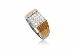 Ảnh số 8: TrangsucLUNA Nhẫn nam đính kim cương nhân tạo xi phủ vàng trắng vàng tây 18k - Giá: 1.160.000