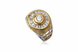 Ảnh số 18: TrangsucLUNA Nhẫn nam đính kim cương nhân tạo xi phủ vàng trắng vàng tây 18k - Giá: 1.260.000