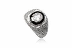 Ảnh số 23: TrangsucLUNA Nhẫn nam đính kim cương nhân tạo xi phủ vàng trắng vàng tây 18k - Giá: 1.330.000