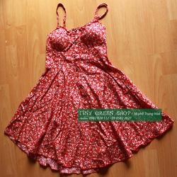 Ảnh số 61: Váy hoa nhí có đệm ngực - Giá: 160.000