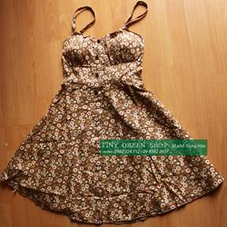 Ảnh số 62: Váy hoa nhí có đệm ngực - Giá: 160.000