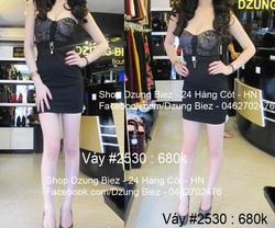 Ảnh số 18: váy cúc ngực ren - Giá: 550.000