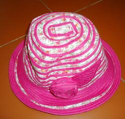Ảnh số 33: Mũ nan nơ hồng pha vải - Giá: 70.000