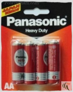 Ảnh số 25: Pin tiểu AA, Pin thông dụng, Pin Carbonzinc, Pin Panasonic heavy duty R6DT/4B - Đỏ ( 1 Gói/ 4 Viên pin) - Giá: 14.500