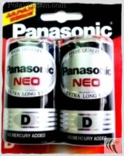 Ảnh số 29: Pin đại D, Pin thông dụng, Pin Carbonzinc, Pin Panasonic extra heavy duty R20NT/2B - Đen ( 1 Gói/ 2 Viên pin) - Giá: 26.400