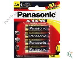 Ảnh số 45: Pin tiểu AA, Pin thông dụng, Pin Alkaline Kiềm, Pin 1.5V, Pin Panasonic LR6T/4B (1 vỉ/ 4 viên pin) - Giá: 42.000