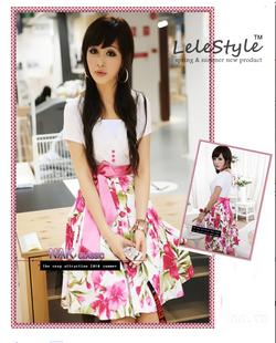 Ảnh số 2: Váy hoa tiểu thư họa tiết Floral hot 2012 - Giá: 200.000