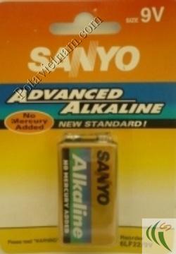 Ảnh số 60: Pin Chữ nhật - Vuông, Pin 9 Volt, Pin Kiềm Alkaline, Pin thông dụng, Pin Sanyo 6LF22/1BP (1 Vỉ/ 1 Viên pin) - Giá: 56.000