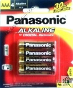 Ảnh số 62: Pin đũa AAA, Pin Kiềm Alkaline, Pin thông dụng, Pin 1.5V, Pin Panasonic LR03T/4B (1 Vỉ/ 4 viên pin) - Giá: 42.000