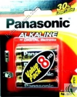 Ảnh số 63: Pin đũa AAA, Pin Kiềm Alkaline, Pin thông dụng, Pin 1.5V, Pin Panasonic LR03T/8B (1 Vỉ/ 8 viên pin) - Giá: 80.000