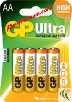 Ảnh số 68: Pin tiểu AA, Pin cao cấp máy ảnh-chụp hình và máy quay, Pin 1.5V, Pin Kiềm Alkaline, Pin GP ULTRA 15AUOQ-U4 (1 Vỉ / 4 viên pin) - Giá: 35.000