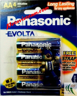 Ảnh số 72: Pin tiểu AA, Pin thông dụng, Pin máy ảnh máy quay, Pin 1.5V, Pin Kiềm Alkaline, Pin PANASONIC EVOLTA LR6EG/4B (1 Vỉ/ 4 viên pin) - Giá: 75.000