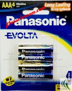 Ảnh số 73: Pin đũa AAA,, Pin thông dụng, Pin máy ảnh máy quay, Pin 1.5V, Pin Kiềm Alkaline, Pin PANASONIC EVOLTA LR03EG/4B (1 Vỉ/ 4 viên pin) - Giá: 75.000