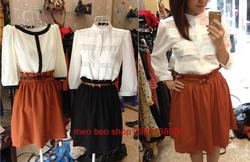 Ảnh số 45: ♥ áo trắng tầng cá tính  chất vải habutai siêu thích nhé , ko phải mấy loại rởm đâu các nàng ạ , xin đảm bảo đấy  ,  ♥290k ♥ S.M - Giá: 290.000