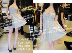 Ảnh số 2: váy chấm bj dây xích - Giá: 550.000