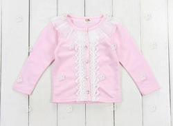 Ảnh số 82: áo khoác len hồng ren trăng - Giá: 165.000