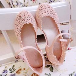 Ảnh số 40: Giày búp bê nhựa lưới hoa - Giá: 170.000