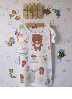 Ảnh số 3: áo thun in hình gấu - Giá: 45.000