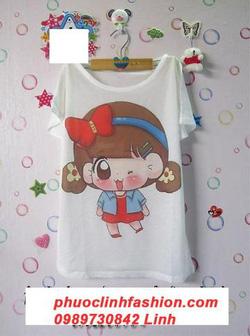 Ảnh số 23: áo thun in hình em bé cài nơ - Giá: 50.000