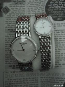 Ảnh số 14: Đồng hồ đ&ocirci cao cấp Patex cho nữ- Nam v&agravenh hạt đá - Giá: 1.400.000