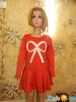 Ảnh số 3: Váy nơ ngực xuất Nhật cho bé gái từ 3 đến 10 tuổi (màu cam), giá cửa hàng: 200k - Giá: 200.000