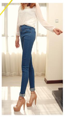 Ảnh số 7: jeans cạp cao size M - Giá: 200.000