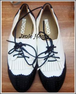 Ảnh số 2: Giày oxford đen trắng - Giá: 240.000