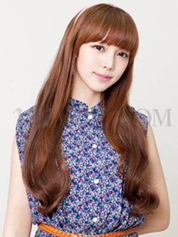 Ảnh số 2: Tóc bộ Nữ Hàn quốc xoăn nhẹ mái bằng - Giá: 850.000