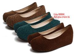 Ảnh số 62: Giày búp bê bánh mì Alibaba chấm bi - Giá: 220.000