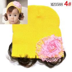 Ảnh số 57: Mũ len hoa kèm tóc giả - Giá: 50.000