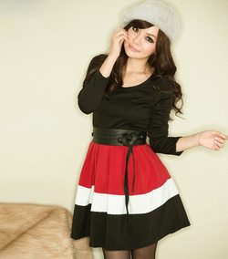 Ảnh số 1: váy tiểu thư, kèm đai - Giá: 220.000