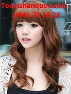 Ảnh số 13: Korea - xoăn nhẹ mái bằng Tóc có da đầu chịu nhiệt - Giá: 800.000