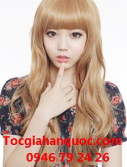 Ảnh số 15: Korea - xoăn nhẹ mái bằng Tóc có da đầu chịu nhiệt - Giá: 800.000